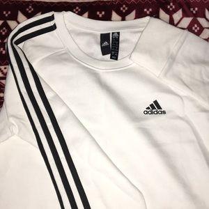 White Adidas crew neck nwot